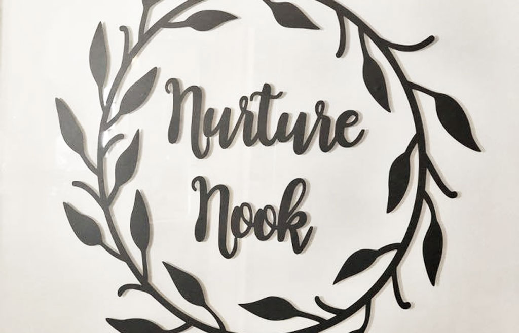 Nurture Nook sign