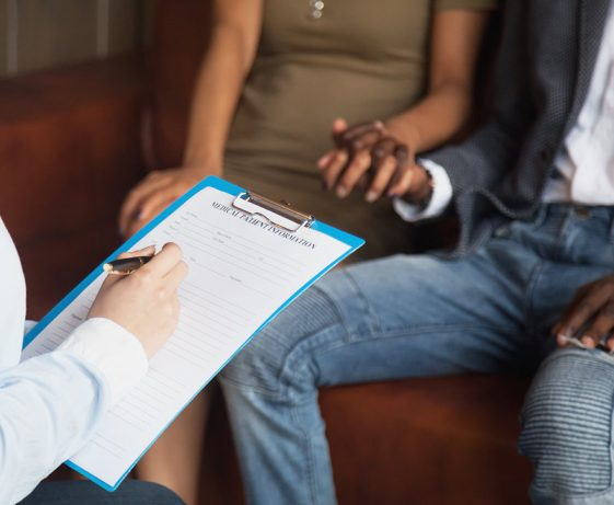 couple getting fertility consult